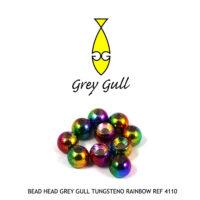 bead head grey gull TUNGSTENO RAINBOW Ref 4110